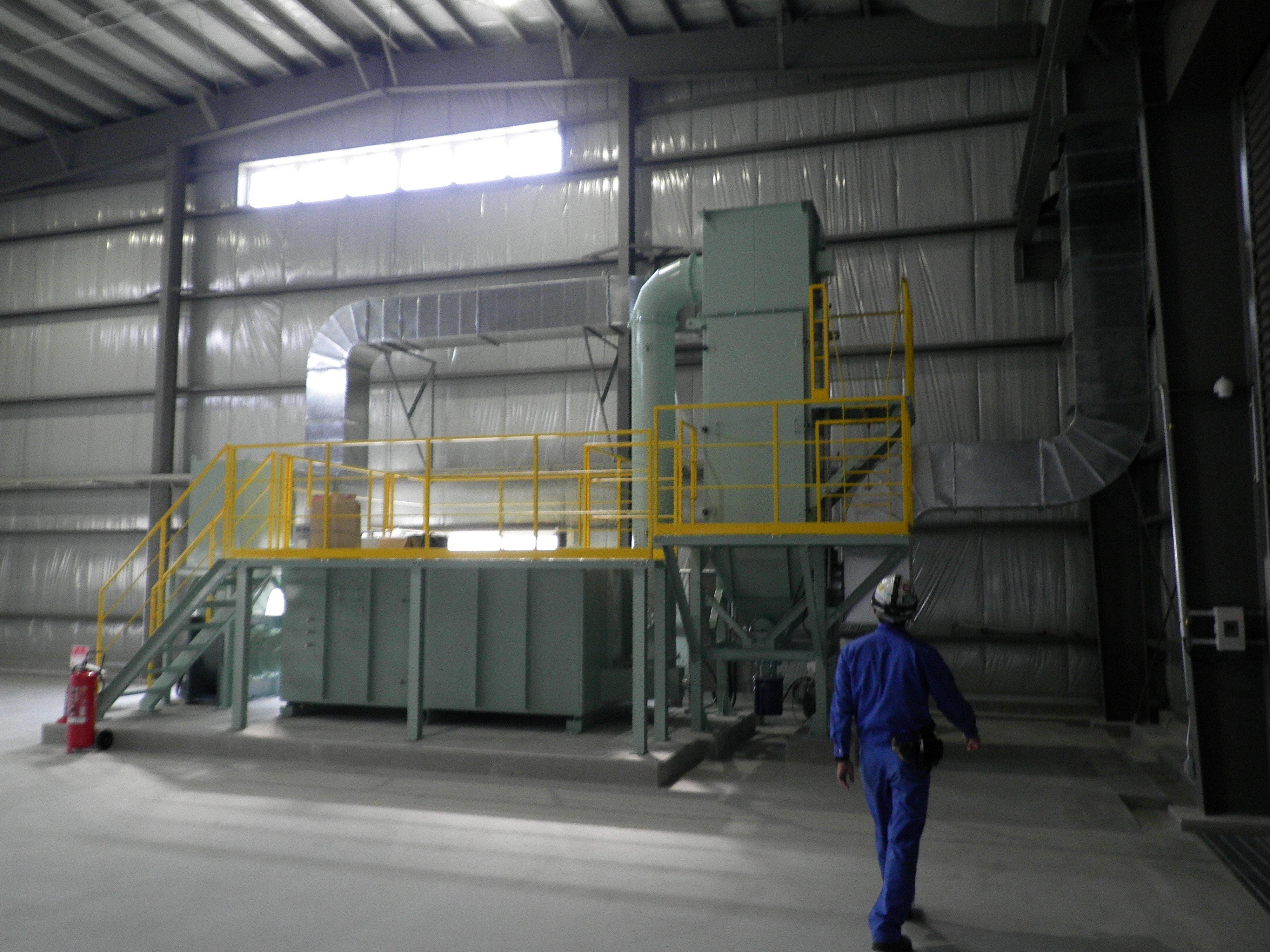 微細粉塵の捕集および汚染ガス除去システム