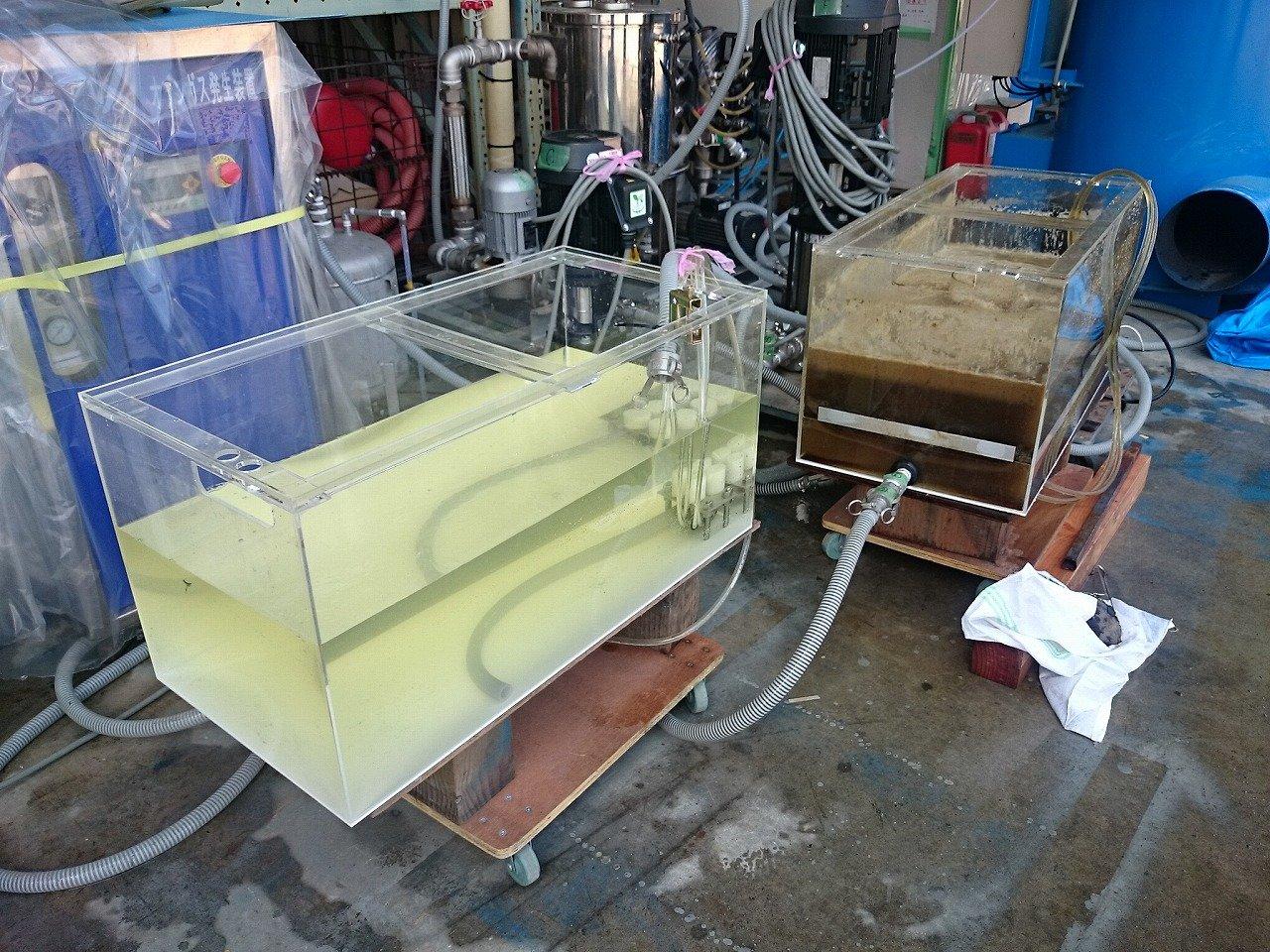 オゾン・マイクロバブル排水汚水処理設備
