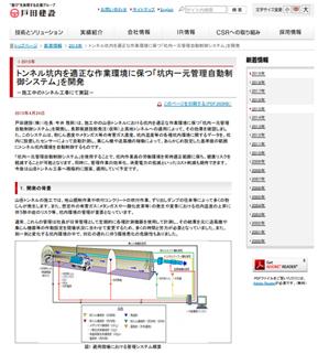 戸田建設坑内自動制御システム