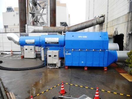 大型焼却施設解体用集塵、ガス吸着システム
