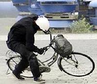 自転車走行中